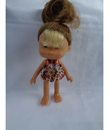 """Greenbrier International Small Toddler Doll Brown Tan Rooted Hair 5"""" Ru... - $1.56"""