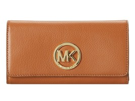 NWT Michael Kors Fulton Leather Carryall Wallet Authentic Hot 32F2GFTE3L... - $86.10