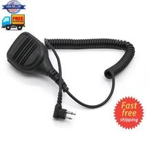 2 Pin Ptt Speaker Mic For Motorola Walkie Talkie GP68 GP88S CP200 CLS1450 CT450L - $12.45