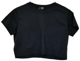 Missguided Women's Navy Blue Short Sleeve Crop Top T-Shirt Size 4
