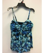 Plus Size A Shore Fit Tummy Slimmer Flared Tankini Top Size 10 - $27.54