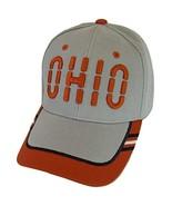 Ohio Window Shade Font Men's Adjustable Baseball Cap (Gray/Red) - $12.95