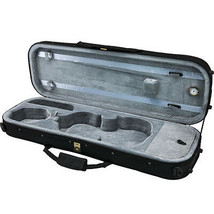Classic 1/8 Violin Oblong Case. Black. Lightweight  - $39.99