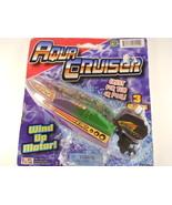 Aqua Cruiser Toy Speed Boat Wind up motor Vintage - $9.99