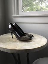 Stuart Weitzman Women's Sashay Gray Degrade Ombre Patent Peep Pump Size 6 Narrow - $54.45