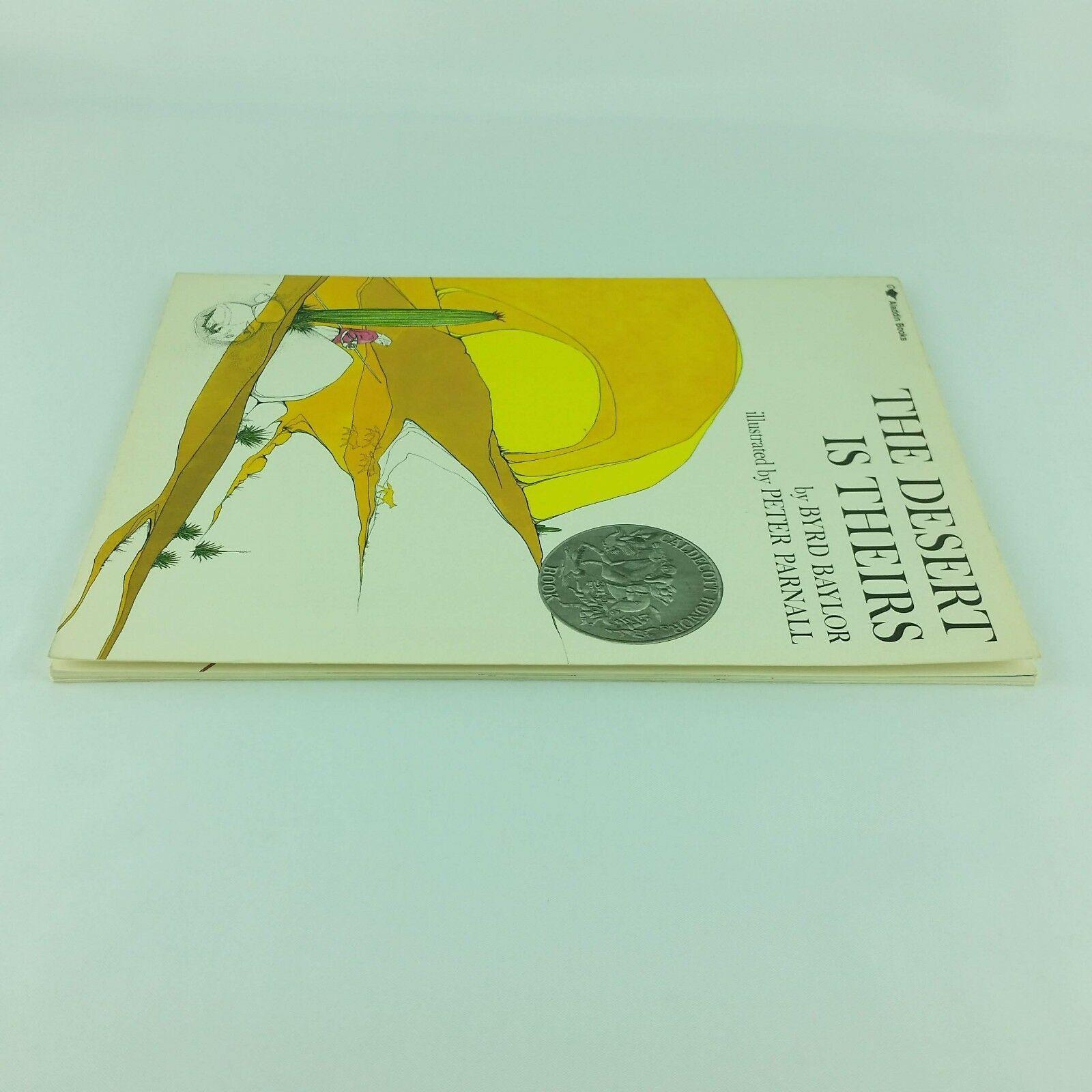 The Desert is Theirs 1987 Childrens Vintage Book Byrd Baylor Signed Paperback