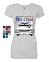 Mustang Country 1964 Women's V-Neck T-Shirt Ford Legend USA American Cla... - $15.95+