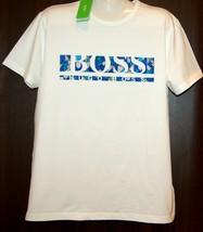 Hugo Boss White Blue Logo Design Cotton Men's T- Shirt Size 2XL NEW Boss Green - $95.02