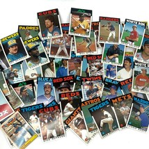 Mixed Baseball Cards 1980's Topps Red Sox Cubs Mets Giants Astros Lot of... - $22.00