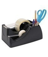 "Recycled 2-in-1 Heavy Duty Tape Dispenser, 1"""" and 3"""" Cores, Black, Sol... - $33.90"