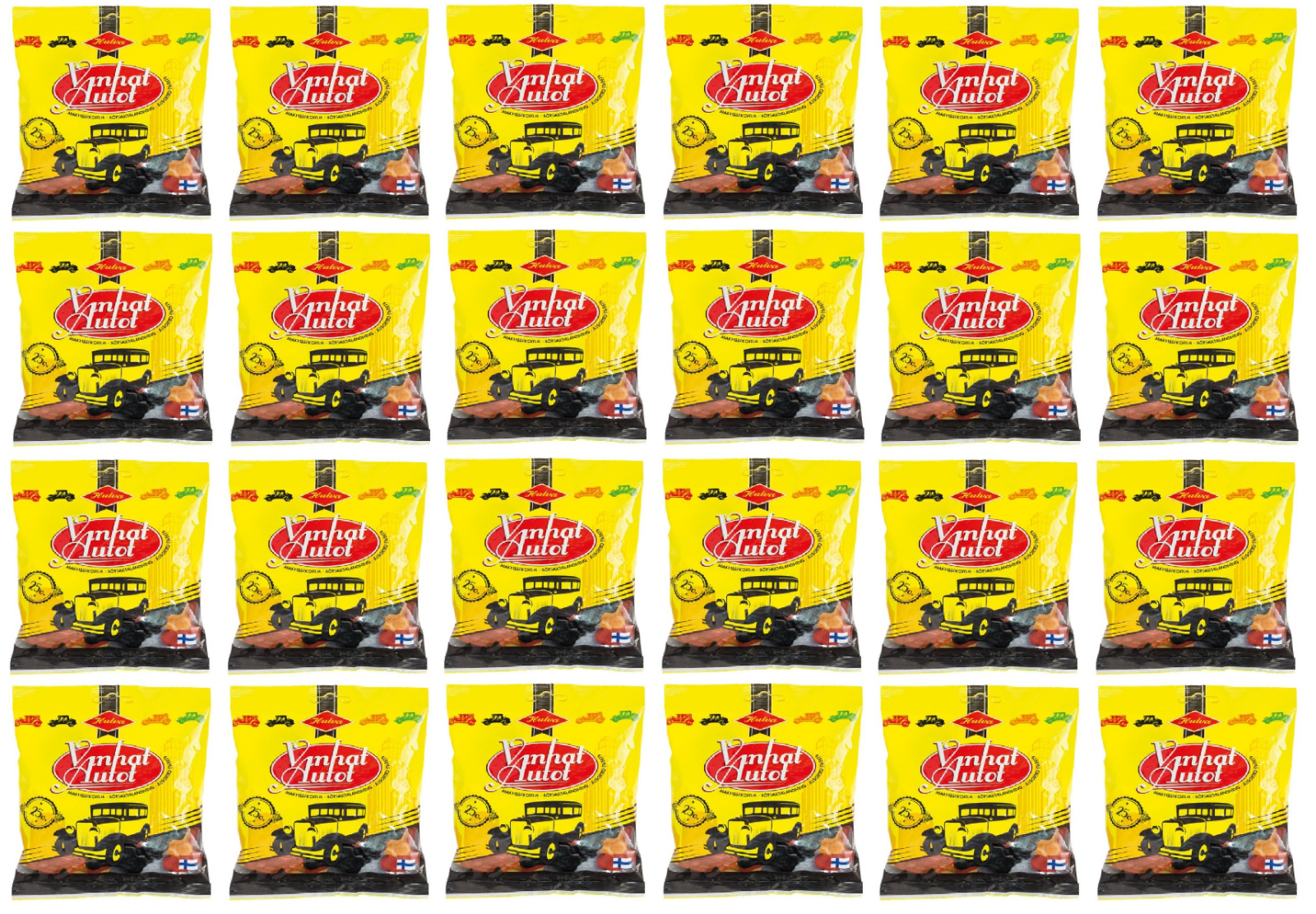 Primary image for Halva Old Car fruit salty licorice assorted sweets bag 170g x 24 pack 8.8lb