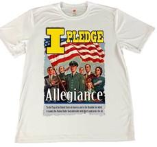 WWII Pledge of Allegiance American Flag Wicking T-Shirt w Car Coaster - $14.80+
