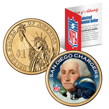 SAN DIEGO CHARGERS Colorized Presidential $1 Dollar Coin Football NFL LI... - $9.46