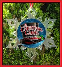 A Christmas Carol The Musical Christmas Ornament - Broadway X-MAS Snowflake - $12.95