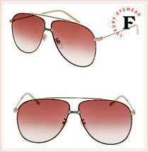 GUCCI GLASANT 0440 Gold Havana Violet Aviator Metal Retro Sunglasses GG0... - $306.90