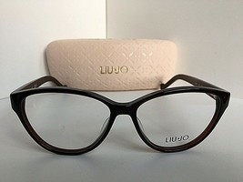 New LIU JO LJ 2618 LJ2612 210 Polished Black 53mm Rx Women's Eyeglasses Frame  - $99.99