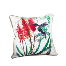 Fennco Styles 18-inch Humming Bird Down Filled Throw Pillow - 100% Cotto... - $36.62