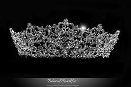 Lorelei Royal Statement Silver Tiara | Swarovski Crystal - $149.95