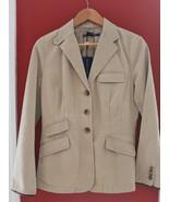 NWT Ralph Lauren Blue Label Designer Cotton Tan Blazer Tailored Jacket 6... - $226.71