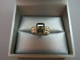 VTG Avon Ring RJ 925 Sterling Silver Smokey Topaz Crystal Size 7 RJ Graz... - $32.66