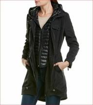 new Badgley Mischka women coat jacket hooded 66951 black sz S $189 - $79.19