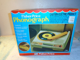 Vintage 1979 Fisher Price Portable Turntable Record Player #825 33 & 45 RPM - $69.99