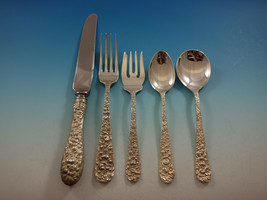 Rose by Stieff Sterling Silver Flatware Set Service 33 Pieces Repousse - $1,695.75