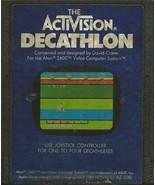 ORIGINAL Vintage TESTED 1983 Atari 2600 Activision Decathlon Game Cartridge - $14.84
