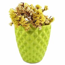 Orchid Pot, 5 Inch Green Ceramic Planter Cactus Plant Container, Diamond... - $20.57