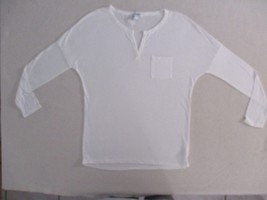 Old Navy Women Top S White Solid  Long Sleeves Rayon 1800 - $7.84