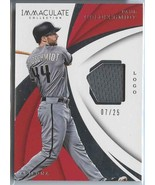 PAUL GOLDSCHMIDT GAME USED JERSEY SER# 7/25 2018 Immaculate Collection S... - $12.99