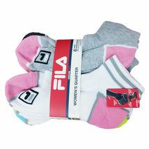 FILA Women's 6 Pack Low Cut Classic Sport Athletic Gym Moisture Control Socks image 7