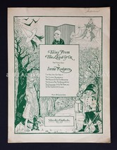 1932 antique TALES FROM THE LAND OF OZ sheet music DISCOVER TERRIBLE wizard - $99.99