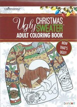 Adult Ugly Christmas Sweater Coloring Book Stress Relief Relaxation Clean - £3.80 GBP