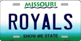"MLB Kansas City Royals License Plate Team  State Background Metal Tag ""U.S.A.""  - $9.85"