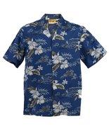 Orchid Hawaiian Aloha Shirt; Made in Hawaii [bl... - $25.95
