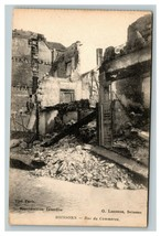 Vintage 1910's Photo Postcard WW1 Bombing Damage Soissons France - $17.84