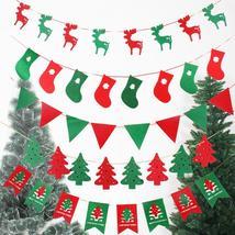 Hanging Decorations Pull Flags Pennant Diy Christmas Tree Deer Hanging B... - $1.23+