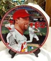 MARK MC GUIRE COLLECTOR PLATE BRADFORD EXCHANGE CERTIFIED NUMBERED - $6.79
