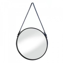 Hanging Mirror With Faux Leather Strap - $40.56