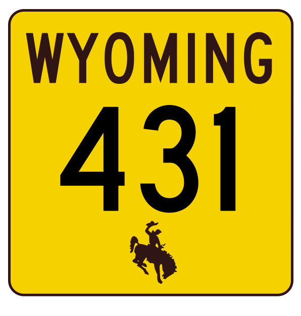 Primary image for Wyoming Highway 431 Sticker R3540 Highway Sign