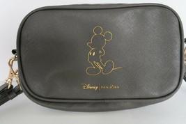 Disney & Pandora collab gray leather look small purse wristlet & shoulde... - $24.99