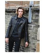 Men Genuine Lambskin Quilted Real Leather Motorcycle Slim fit Biker Jack... - £46.53 GBP+