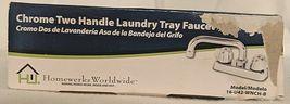 Homewerks Worldwide 16U42WNCHB Chrome Two Handle Laundry Tray Faucet image 9