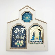 Hallmark Christmas Greeting Cards Boxed 24 Ct White Church Box Glitter Trimmed - $19.54