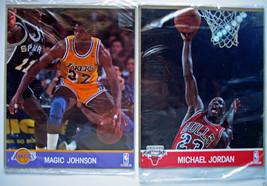Michael Jordan & Magic Johnson           NBA Hoops Action Photos        ... - $9.41