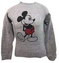 Vintage Mickey Mouse Sweatshirt Tri Blend Disney Heather Gray Sweatshirt... - $69.99