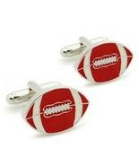 FOOTBALL CUFFLINKS American Sports Fan Athlete Player NEW w GIFT BAG Wed... - $9.95