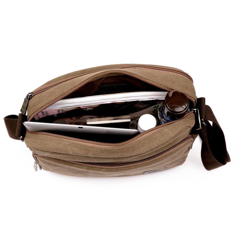 Men's Canvas Crossbody Messenger Bag Satchel Shoulder Travel Laptop School Bags