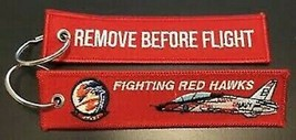 USMC VT-21 Redhawks Remove Before Flight Key Ring - $9.89